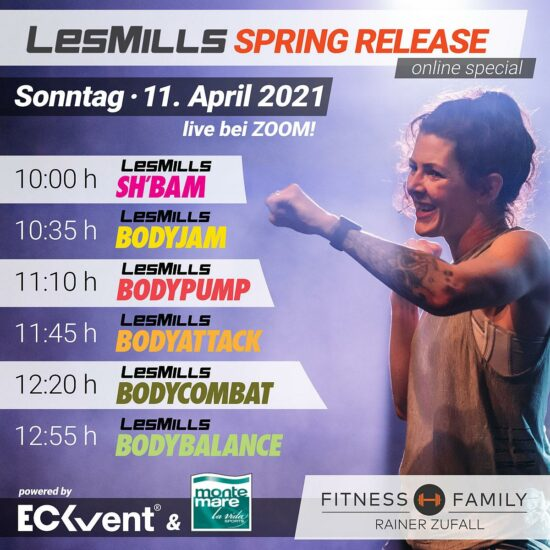 Les Mills Spring Release